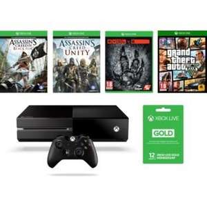 Xbox one Assassins Creed Black Flag and Unity, Evolve, Gta V and 12 months Live £389.99 @ Argos