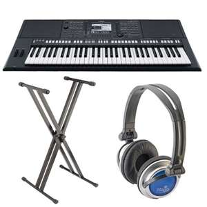 Yamaha psr s750 keyboard with free 5 year warranty, free delivery, free stand and headphones, 0% interest free option - 5% voucher code off5 £730.55 @ normans