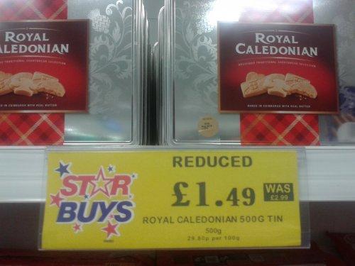 Royal Caledonian 500g Tin of Shortbread £1.49 @ Home Bargains