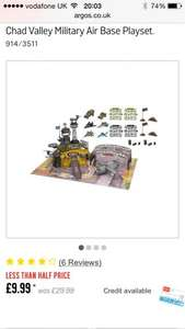 Chad Valley Military Base instore @ Argos £9.99