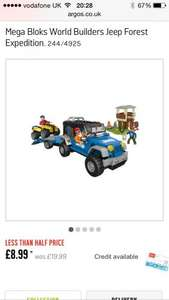 Mega Bloks World Builders Jeep Forest Expedition @ Argps £8.99