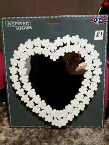 vintage love heart mirror £2.99 - £1 @ B&M