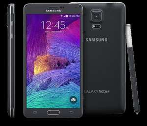 The Mobile Shop via Money Supermarket - Samsung Note 4 for £4.99 with voucher, U/L texts and calls, 4gb data, 4g, £33.49pm with EE @ mobileshop