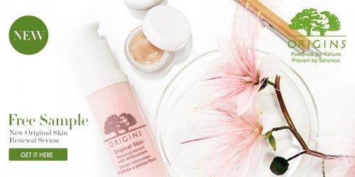 Get a free sample of Origins Skin Renewal Serum