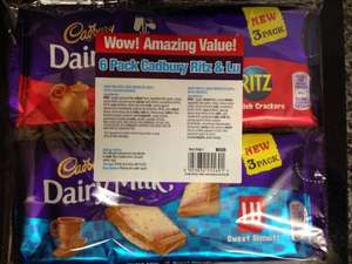 £1 dairy milk ritz & lu double pack @ Poundland