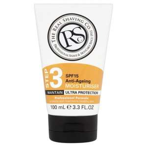 The Real Shaving Co. Anti-Ageing SPF15 Mens Moisturiser 100ml - 2 for £4 @ Morrisons