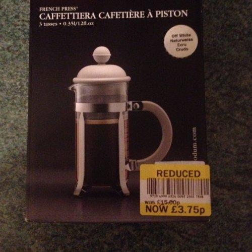Bodum French coffee press £3.75 @ Tesco instore