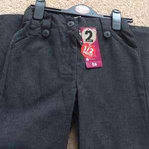 £3 for pack of 2 girls school trousers instore @ Sainsbury's