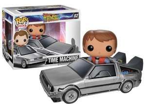 Back to the Future DeLorean with Marty McFly Funko Pop vinyl £15.99 @ Amazon