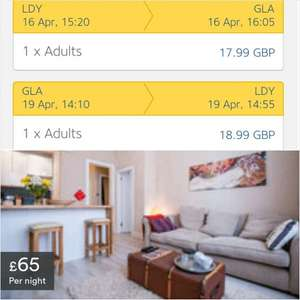 Weekend break in Glasgow - flights + apartment - fly from Northern Ireland £135.22 @ airbnb