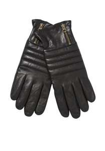 F&F Leather Zip Detail Gloves £5 @ Tesco Clothing