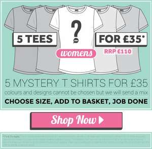 5 Plain Lazy mystery womens Tshirts for £35 @ Plain Lazy