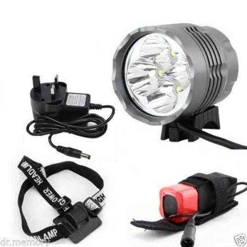 Bicycle Light & Headlight 4 CREE XML T6 4800 lumen LED £15.49 ebay/Dr.Memory (5200 lumen £17.99 ebay/Safe2buy2000 - link in comments)