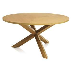 Sherwood Oak Dining Table Round £50 @ Wilko.com FREE DELIVERY