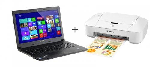 Lenovo Essential B50-70 Laptop + Free Canon PIXMA iP2850 Inkjet Printer - £299.99 (£249.99 After Cash Back) - eBuyer