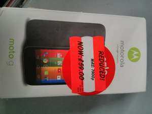 Moto G £59 further reduction @ Asda in store