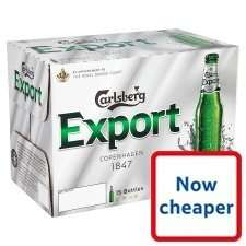 Carlsberg Export 15X275ml Bottles £7.60 @ Tesco