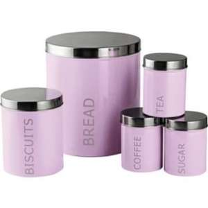 * 5 Piece Kitchen Storage Set For Bread/Tea/Coffee/Sugar & Biscuits £7.99 @ Argos (R&C) Was £19.99 *