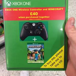 Xbox one controller and minecraft £40 at Asda instore