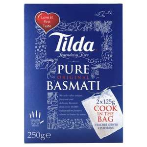 Tilda Basmati Rice Cook In The Bag 250g £1 @ Tesco