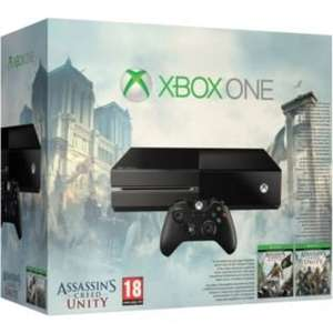 Xbox One Console With Assassin's Creed Unity, Assassin's Creed Black Flag & Either Evolve / GTA 5 or Halo Master Chief Collection - £279.99 - Argos (Or White Sunset Overdrive Bundle)