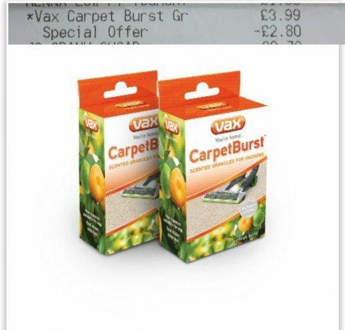 CarpetBurst™ Citrus Burst Scented Vacuum Granules @ sainsbury instore rrp 3.99