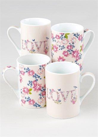 4 Pack Of Mugs (Various Designs) £2.50 @ Matalan- Free C&C