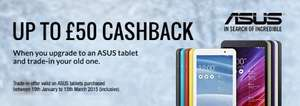 "ASUS MeMo Pad 7"" and 8"" (2014 model) Android Tablets £99.99 / £129.99 @ Argos - £49.99 / £69.99 after Cashback for Tablet Trade In  - Plus Potential Topcashback (oncard @ 3%)"