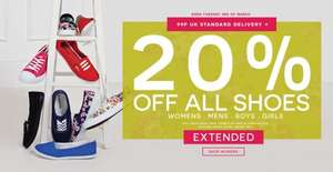20% off shoes at Peacocks 99p delivery!