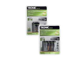 TRONIC Ni-MH Rechargeable Batteries.£2.99 @ Lidl