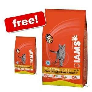10kg bag of Iams dry cat food only £29.99 plus FREE 3kg bag and free delivery at Zooplus