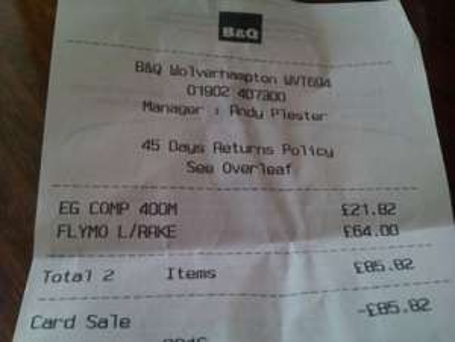 Flymo Lawn rake 3400 £64 @ B&Q
