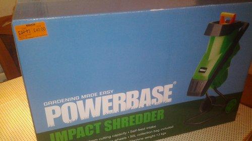 garden shredder £40 at Homebase - down from £59.93
