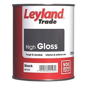 Leyland Trade High Gloss Paint Black [750ml] £5 @ screwfix