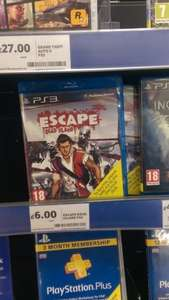 Escape Dead Island ps3 and xbox360 £6 instore at Tesco