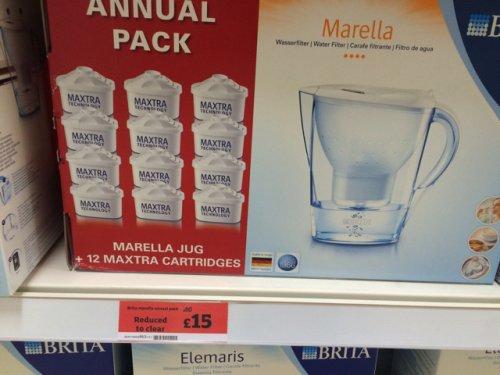 Brita Marella Jug + 12 Maxtra Cartridges £15 @ Sainsburys
