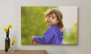 "60cm X 40cm canvas £21.93 delivered, usually £45.90 @ Albelli using MSE ""blagged"" code. Great Mothers day gift!"