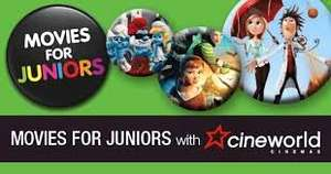 Cineworld-Movies for Juniors-£1.35 per adult/child (with Free Membership)-three movies showing this weekend  -  How To Train Your Dragon 2,  Planes: Fire and Rescue,  and  The Book Of Life