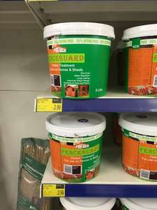 Pet safe fence/shed paint - 20% off 4L with 25% extra free £2.99 - B&M Bargains