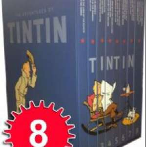Tintin complete book set (24 stories in 8 volumes) delivered for £39.95 from lowplex.