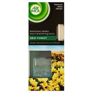 AIR WICK PREMIUM REED DIFFUSER NATIONAL PARKS New Forest 50ml £3.00 @ Tesco (11.99 at M)