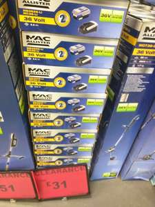 B&Q Mac Allister 36V Li-ion Battery Pack Highest Capacity Model 4.0Ah £31 Instore only