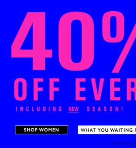 Bank fashion closing down sale 40% off online 70% in store