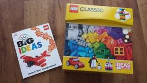 Buy Lego Classic cube 10695 (580 pieces) £15 from Asda and get a FREE Big Ideas Lego Book