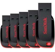 SanDisk 8GB Cruzer Blade USB Flash Drive - FIVE PACK £13.95 Gizzmoheaven