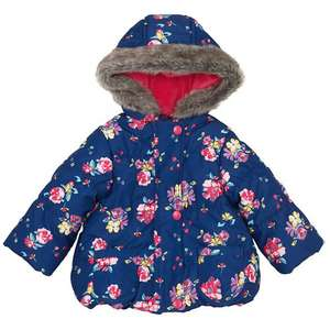 John Lewis Floral Hooded Jacket Sizes 3mths - 3years £14.00