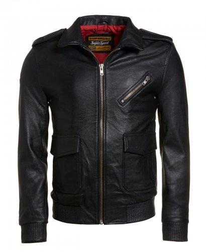 Mens Superdry Flight Bomber Leather Jacket Black £99.99 @ Superdry eBay store. Plenty left.