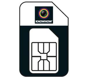Knowhow (Three network) 1gb per month mobile broadband for 12 months £24.99 annual cost @ PC World
