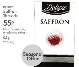 Lidl Deluxe Saffron Threads 0.1g 55p