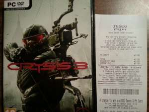 Crysis 3 PC £3 in store Tesco Extra